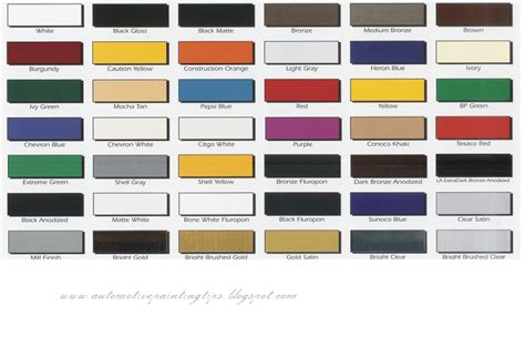 auto paint colors chart car auto paint colors autos weblog