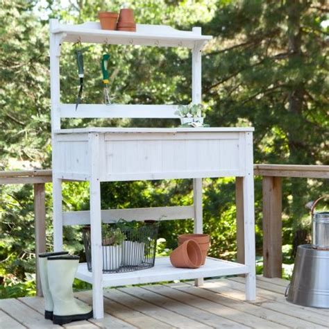 plant potting bench coral coast gardener s choice white wash potting bench