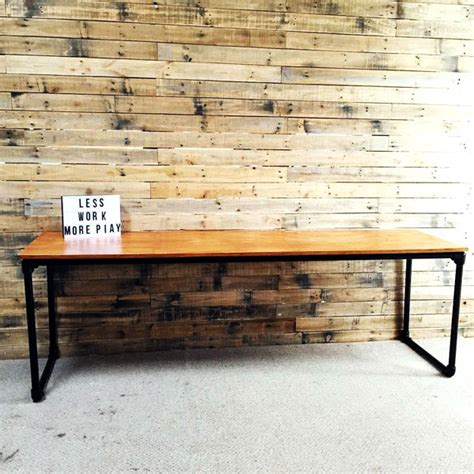 Diy Plywood Desk by Diy Plywood Desk With Pipe Frame Plans To Build Your Own