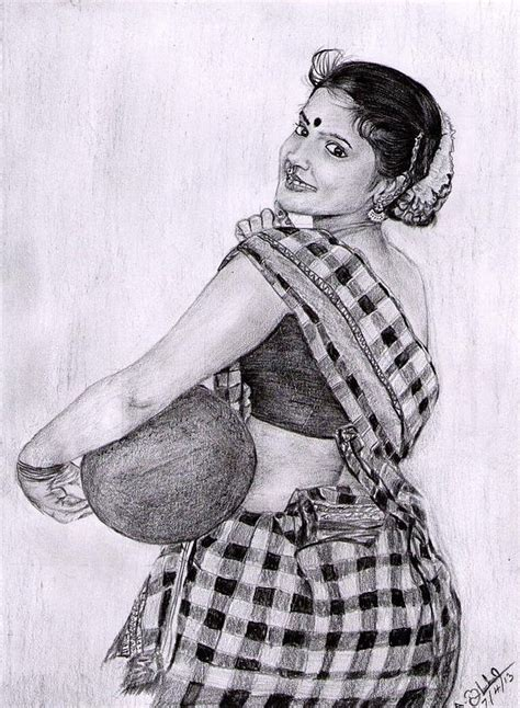 Traditional Pencil indian traditional pencil drawing pencil work
