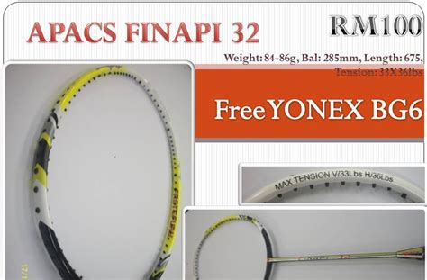 Raket Bulutangkisbadminton Apacs Stardom 90 New netplay sports apacs finapi 32 with yonex string