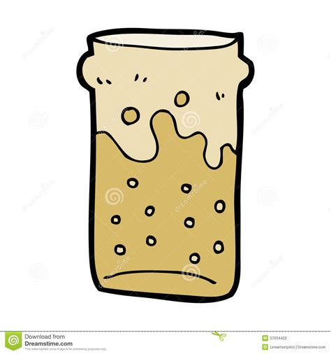 cartoon beer pint cartoon pint of beer stock photography image 37034422