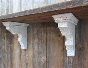 wood corbel pair shelf bracket architectural by twoawesum