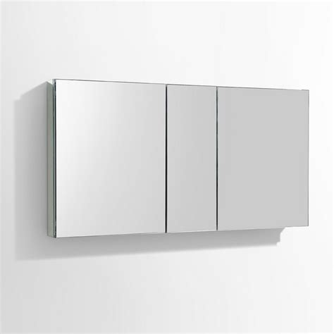 fresca fmc8013 50 quot wide bathroom medicine cabinet w mirrors fresca fmc8013 49 inch wide bathroom medicine cabinet w