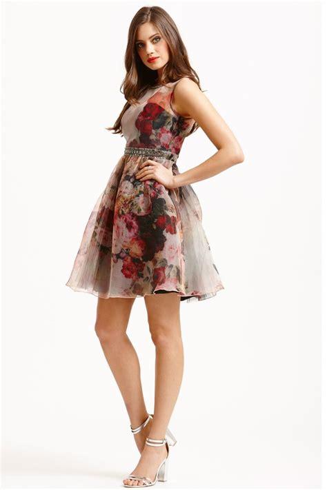 Dress Flare floral fit flare dress bridesmaid dresses