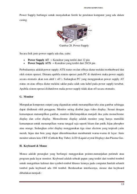 modul teknisi komputer kursus
