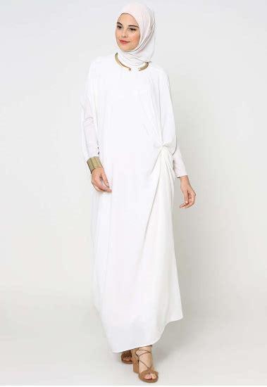 Gamis Pesta Warna Putih tilan model gamis muslim warna putih paling modis