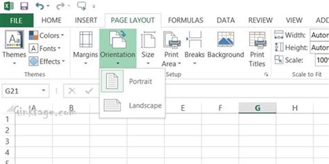 page layout in excel 2013 how to change page orientation of a spreadsheet in