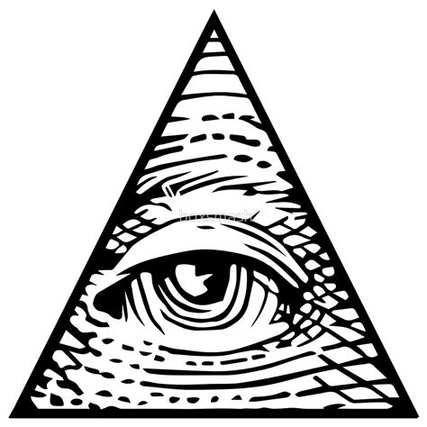 illuminati triangle eye quot illuminati eye of providence quot by boxsmash redbubble