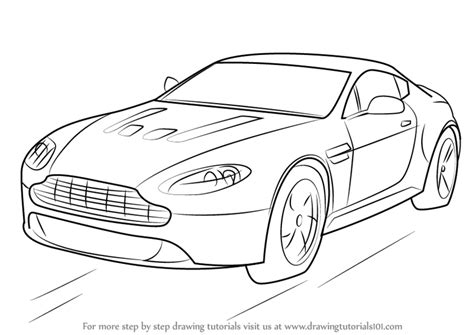 how to draw a aston martin learn how to draw aston martin v12 vantage sports cars