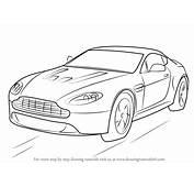 Learn How To Draw Aston Martin V12 Vantage Sports Cars