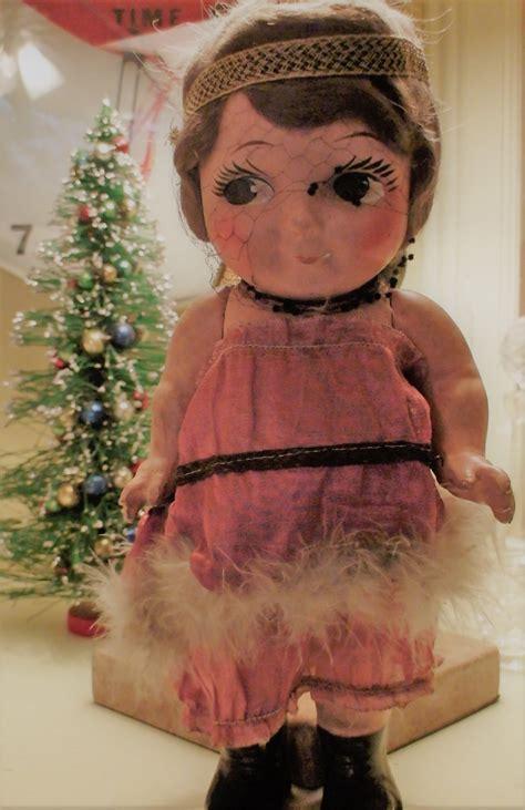 composition carnival doll composition carnival doll possibly gem kid doll