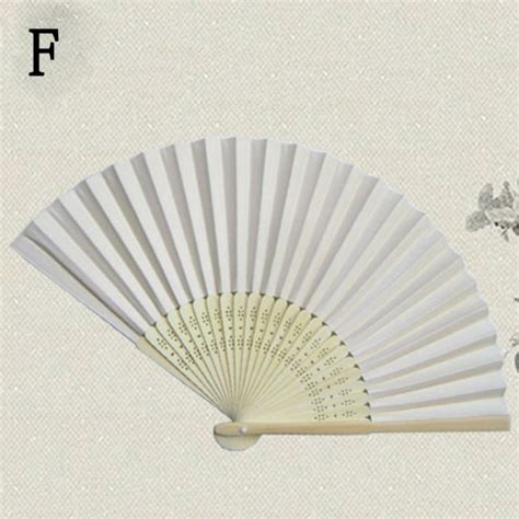 Folding Paper Fan - vogue folding held paper fans favors bamboo pocket