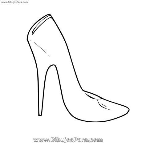 imagenes infantiles de zapatos para colorear dibujo de zapato de mujer sencillo dibujo de zapatos