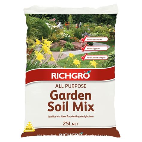 Garden Of Products by Richgro 25l All Purpose Garden Soil Mix Bunnings Warehouse