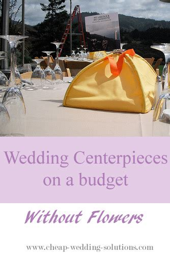 wedding centerpiece ideas without flowers cheap wedding centerpiece idea without flowers