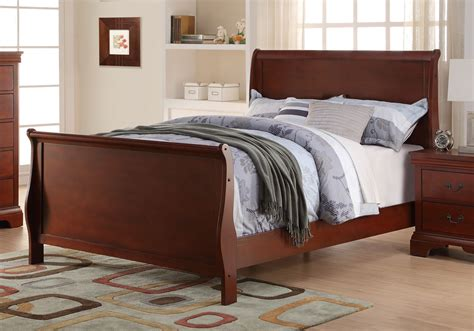 youth bedroom sleigh bed curved headboard