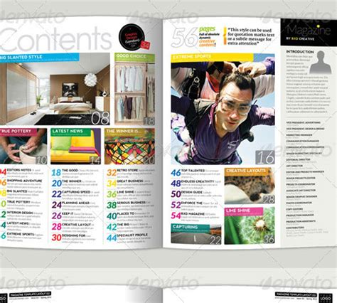 templates magazine 33 ready to print premium magazine templates naldz graphics