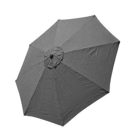 9 Ft 8 Ribs Replacement Umbrella Cover Canopy Grey Top Patio Umbrella Replacement Covers