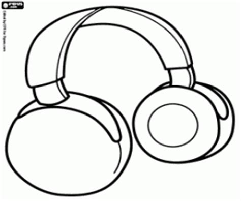 earphones coloring page computer coloring pages printable games