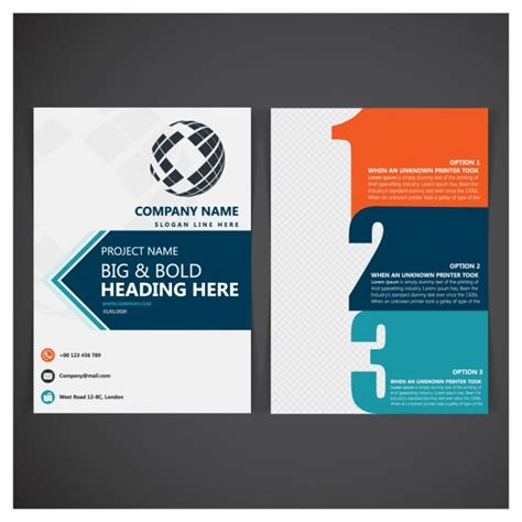 company folder template business folder template vector free