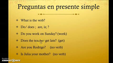 preguntas con what preguntas en presente simple youtube
