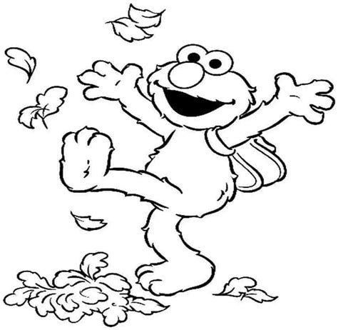 elmo fall coloring pages sesame street elmo coloring pages coloring home