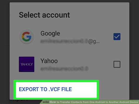 how to transfer contacts from one android to another