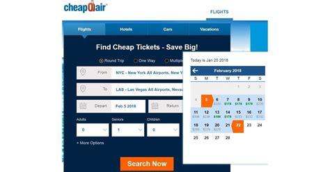Airfare Calendar Cheapoair Fare Calendar Jpg Global Energy Media