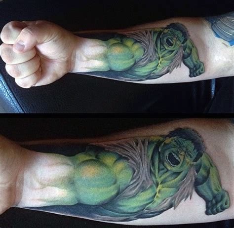incredible hulk tattoos 100 tattoos for gallant green design