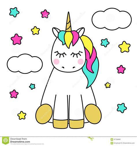 imagenes de unicornios a color personaje de dibujos animados infantil lindo como