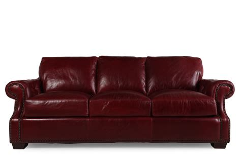 usa leather marsala sofa mathis brothers furniture