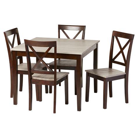 Andover mills tilley rustic 5 piece dining set amp reviews wayfair