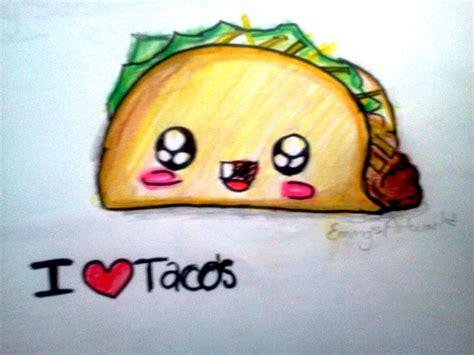 imagenes de tacos kawaii how to draw kawaii food taco youtube kawaii