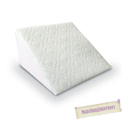 bed wedge pillow cover quilted orthopaedic unfilled bed wedge pillow case back