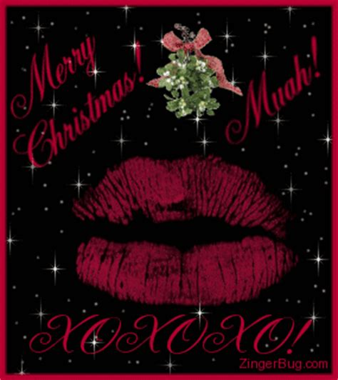 christmas kisses glitter graphic greeting comment meme  gif