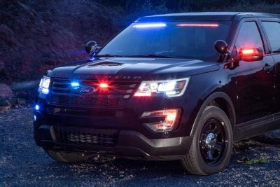 ford police interceptor utility debuts rear spoiler