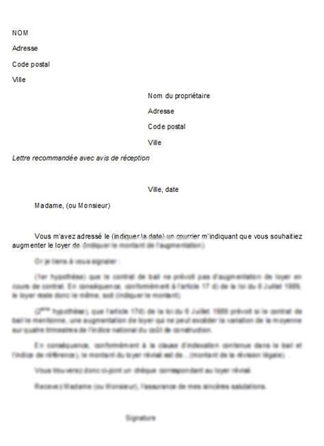 Lettre De Contestation Free Mod 232 Le De Lettre Contestation D Une Augmentation De Loyer