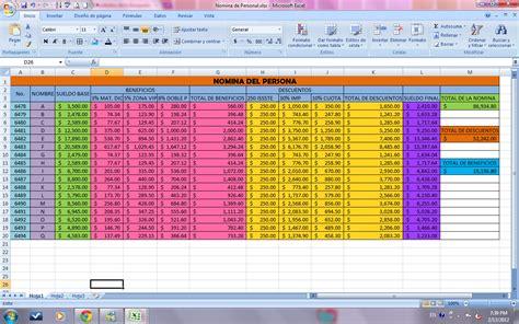 calculo de nominas en excel 2008 2013 automatizado herramientas de nominas en excel images frompo 1