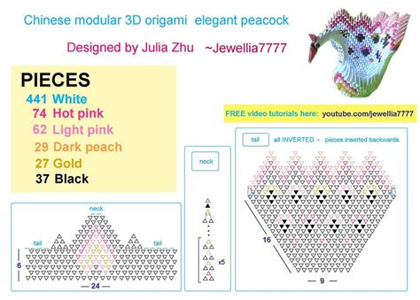 Origami Peacock Diagram - jewellia handicrafts why 3d origami is meaningful to me