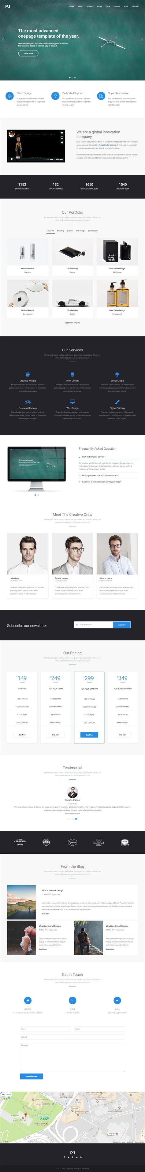 p1 premium responsive multipurpose business joomla theme