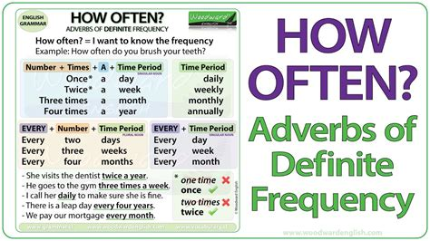 How Of How Often Adverbs Of Definite Frequency