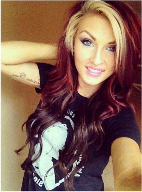 red hair blonde in front best 25 red hair underneath ideas on pinterest res hair