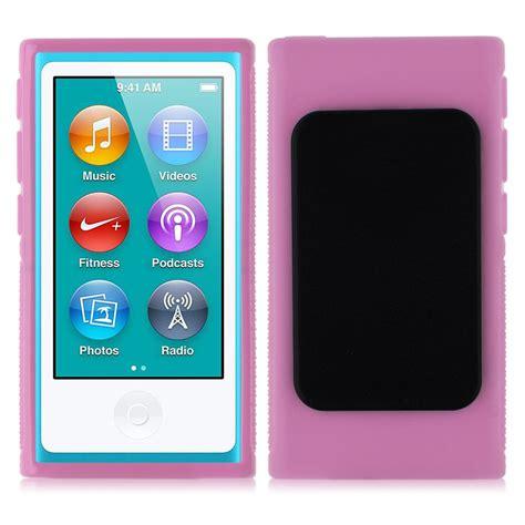 Ipod Nano 6 Rubber tpu rubber skin cover with belt clip for ipod nano 7th 7 7g generation ebay