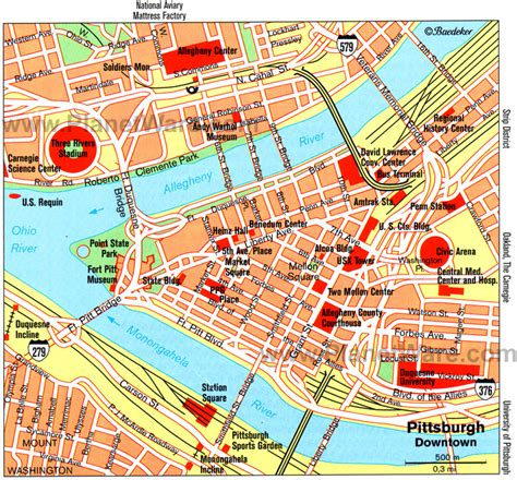 pittsburgh pa map maps update 700650 pittsburgh tourist attractions map