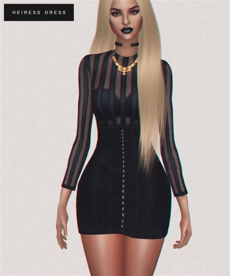 sims 4 royalty dresses heiress dress at fashion royalty sims 187 sims 4 updates