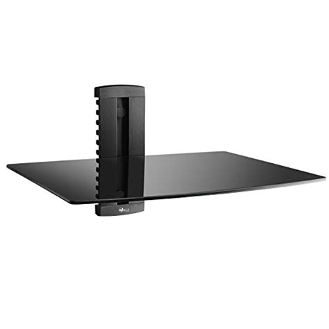 wali 1x black shelf dvd dvr vcr wall mount bracket
