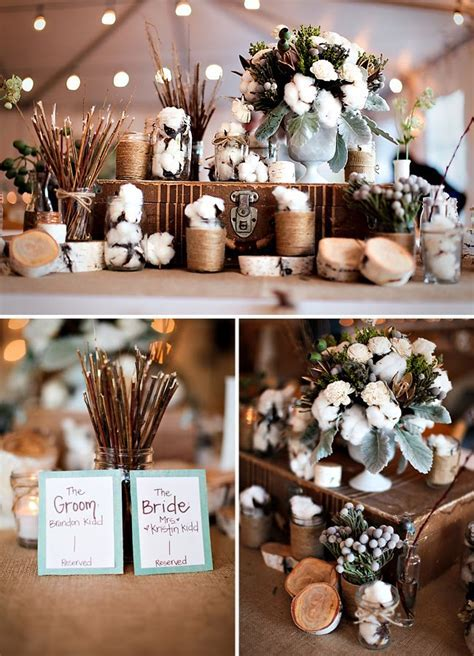 Rustic Chic wedding table setting   Interiorly