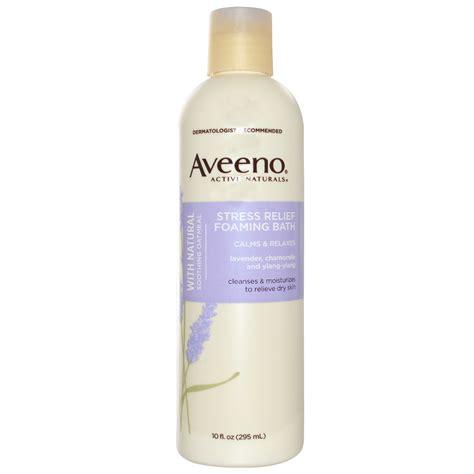 aveeno active naturals stress relief foaming bath 10 fl