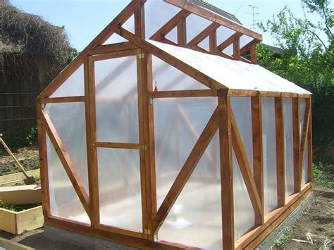 diy wood framed greenhouise  woodworking